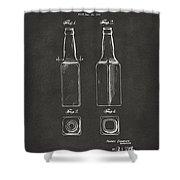 1934 Beer Bottle Patent Artwork - Gray Shower Curtain