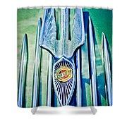 1934 Chrysler Airflow Hood Ornament 2 Shower Curtain