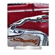 1934 Ford 6 Wheel Equip Hood Ornament Shower Curtain