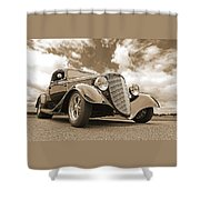 1934 Ford Coupe In Sepia Shower Curtain