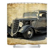 1934 Ford Five Window Coupe Shower Curtain