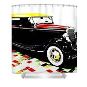 1934 Ford Phaeton V8  Shower Curtain