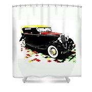 1934 Ford Phaeton V8  Shower Curtain