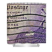 1934 Mothers Of America Three-cent Stamp Shower Curtain