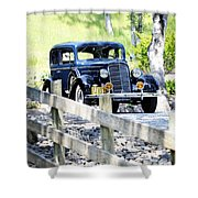 1934 Oldsmobile Touring Coupe 2 Shower Curtain