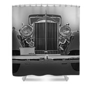 1934 Packard Black And White Shower Curtain