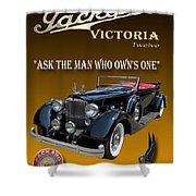 1934 Packard Shower Curtain