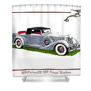 1934 Packard Twelve 1107 Coupe Shower Curtain