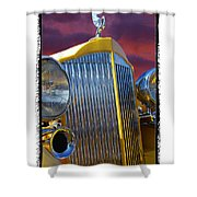 1934 Packard With  Brush Frame Shower Curtain