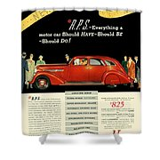 1935 - Nash Aeroform Automobile Advertisement - Color Shower Curtain