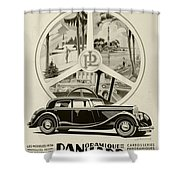 1935 - Panhard Panoramique French Automobile Advertisement Shower Curtain