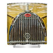 1935 Bugatti Type 57 Roadster Grille Shower Curtain by Jill Reger