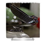 1935 Chevrolet Coupe Emblem Shower Curtain