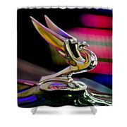 1935 Chevrolet Hood Ornament 2 Shower Curtain