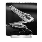 1935 Chevrolet Sedan Hood Ornament -479bw Shower Curtain