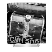 1935 Frazer Nash Tt Replica Shelsley -0223bw Shower Curtain