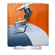 1935 Hispano-suiza J12 Vanvooren Cabriolet Hood Ornament -2425c Shower Curtain