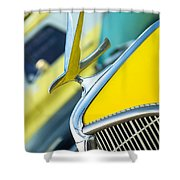 1935 Hudson Hood Ornament Shower Curtain