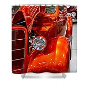 1935 Orange Ford-front View Shower Curtain