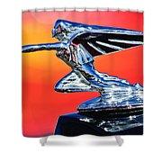 1935 Packard Hood Ornament -0295c Shower Curtain