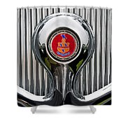 1935 Pierce-arrow 845 Coupe Emblem Shower Curtain