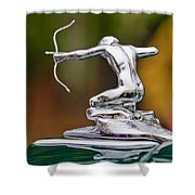 1935 Pierce-arrow 845 Coupe Hood Ornament Shower Curtain by Jill Reger