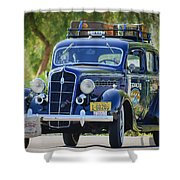 1935 Plymouth Taxi Cab Shower Curtain
