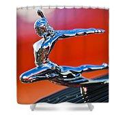 1935 Pontiac Sedan Hood Ornament 2 Shower Curtain