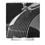 1935 Pontiac Sedan Hood Ornament 3 Shower Curtain