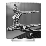 1935 Pontiac Sedan Hood Ornament 4 Shower Curtain