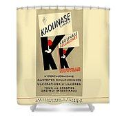 1936 - Kaolinase Drug Advertisement - Color Shower Curtain
