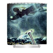 1936 - Thompson Valves Advertisement - Poster - Color Shower Curtain