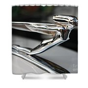 1936 Auburn Super Charger Flying Lady Hood Ornament Shower Curtain