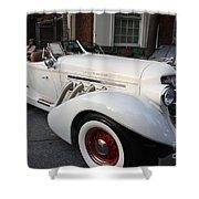 1936 Auburn Super Charger Shower Curtain