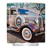 1936 Chevrolet Pick Up Truck Painted    Shower Curtain