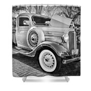1936 Chevrolet Pick Up Truck Painted Bw   Shower Curtain