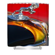 1936 Dodge Ram Hood Ornament 1 Shower Curtain