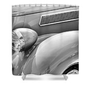 1936 Ford Cabriolet Bw Shower Curtain