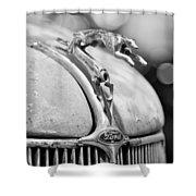 1936 Ford Cabriolet Hood Ornament - Emblem Shower Curtain