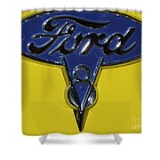 1936 Ford Pickup Emblem Shower Curtain