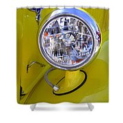 1936 Ford Pickup Headlamp Shower Curtain