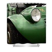 1936 Funeral Truck Headlight Shower Curtain