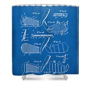 1936 Golf Club Patent Blueprint Shower Curtain