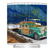 1936 Hispano Suiza Shooting Brake Shower Curtain
