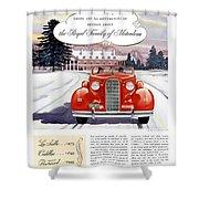 1936 - Lasalle Convertible Automobile Advertisement - Color Shower Curtain
