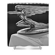 1936 Packard Hood Ornament 3 Shower Curtain by Jill Reger