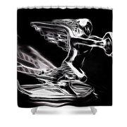 1936 Packard Ornament Shower Curtain