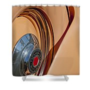 1936 Packard Spare Tire  Shower Curtain