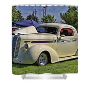 1936 Pontiac Hood Ornament Shower Curtain