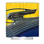 1936 Pontiac Hood Ornament 2 Shower Curtain